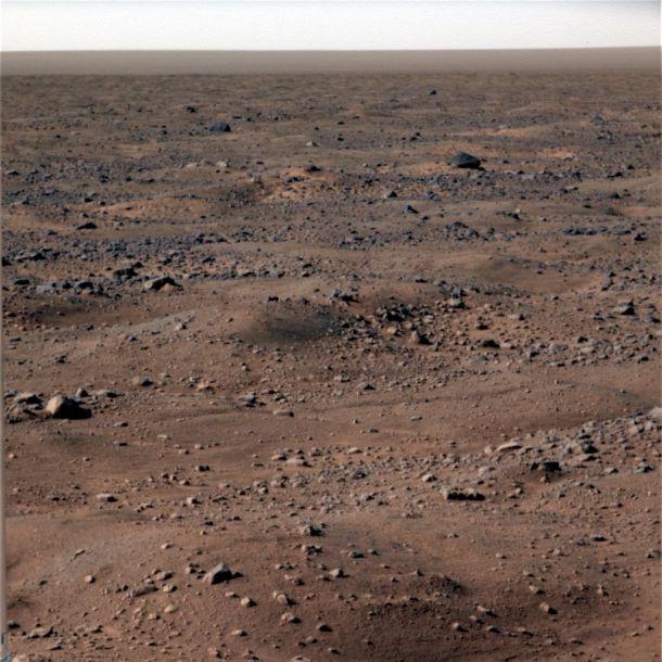 Overfladen på Mars. Foto: NASA/JPL-Caltech/University of Arizona/Texas A&M University
